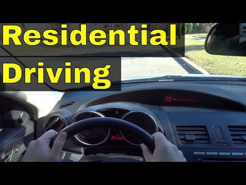 Driving In A Residential Area-Driving Lesson
