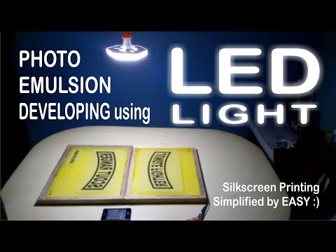 Photo Emulsion Developing using LED light
