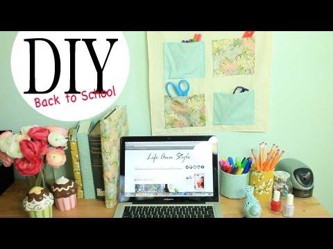 DIY Wall Organizer & Desk Accessories {Back to School Ideas} by ANNEORSHINE