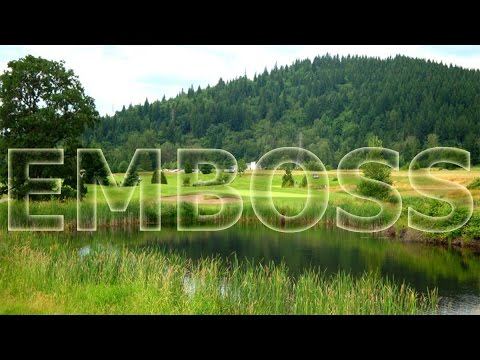 Photoshop tutorial-emboss effect