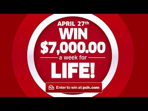 Win $7,000.00 A Week For Life from PCH!