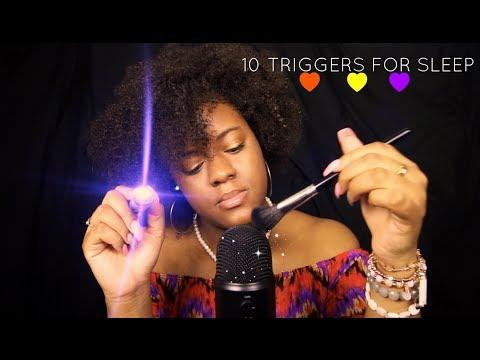 ASMR 10 Triggers To Help You Sleep ~