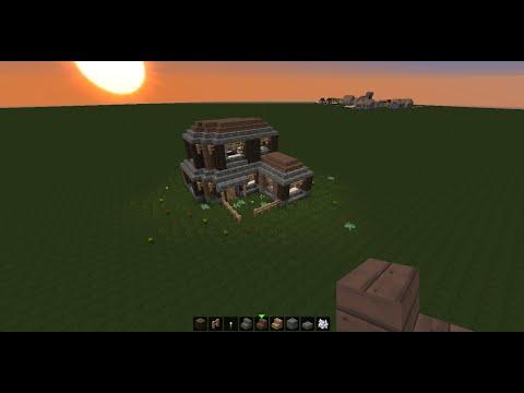 Minecraft Tuto Maison Simple A Faire En Survie 2 Playithub