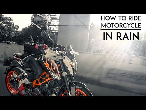 How to Ride a Motorcycle in Rain | Beginners' guide | RWR