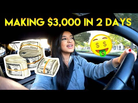 WORK VLOG | MAKING $3,000 DOLLARS IN 2 DAYS + OPENING A $2,000 PACKAGE!