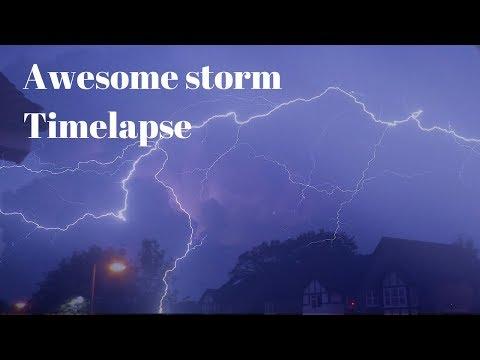 May 2018 lightning storm timelapse