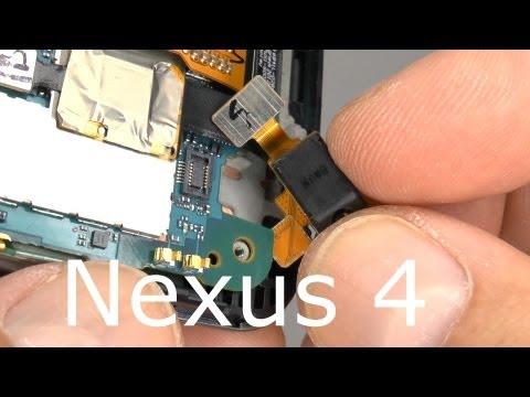 Nexus 4 Disassembly Teardown - Screen & Case Replacement - Drop Test Repair LG E960