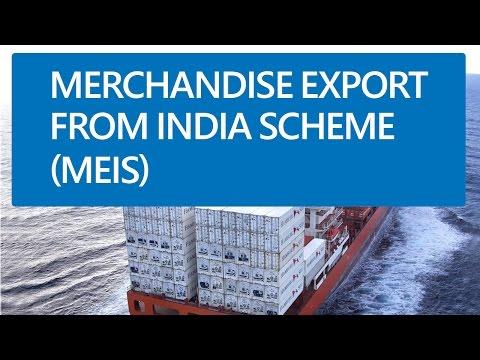 (In Hindi) Merchandise Export from India scheme (MEIS) and Service Export from India scheme(SEIS)