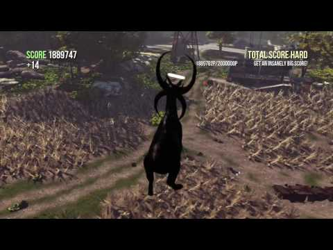 Goat Simulator: How to get a high total score very fast!