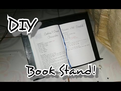 DIY BOOK STAND using recyclable materials!