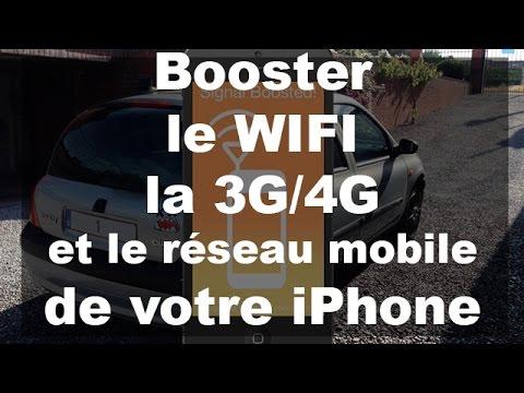 Booster le wifi, la 3G/4G et le réseau mobile de votre iPhone - Signal Booster IOS 8/9
