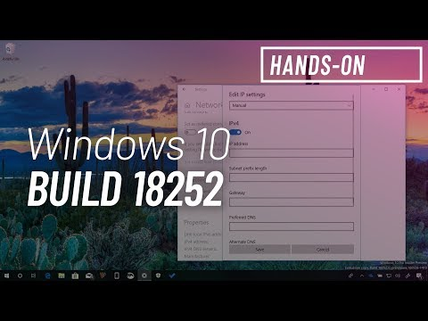 Windows 10 build 18252: Hands-on with Ethernet settings, Disconnected icon, Ebrima font