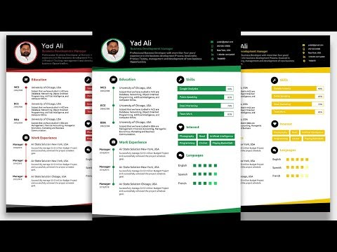 How to create an Awesome Elegant Resume template in Microsoft word 2019