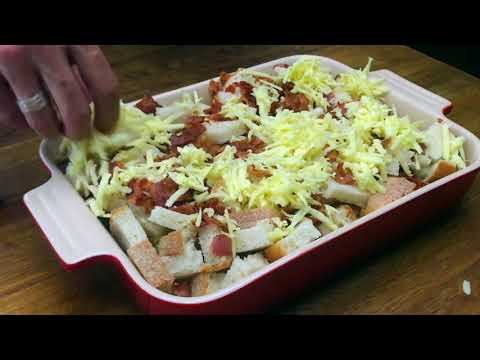 Overnight Bacon Egg and Cheese Breakfast Casserole Video