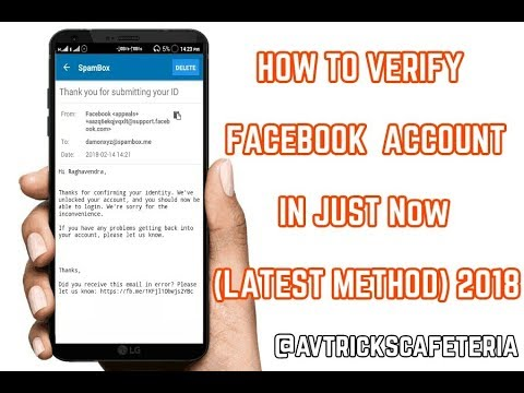 How to Verify Facebook Account in Just Now (Latest Method) 2018