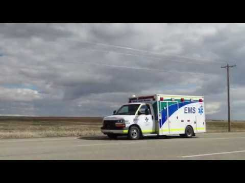 2 Alberta Health Services Ambulances and RCMP responding.
