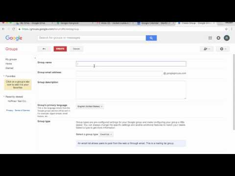 Google Groups: Create a Group, Add Members, Post a Topic