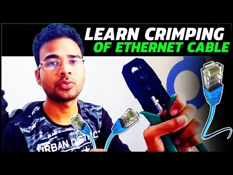 How to do crimping and make RJ45 Network Patch Cable | Cat 5e & Cat 6 Ethernet Cable