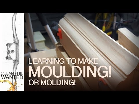 Make Moulding / Molding with Hand Planes | Sticking Board Jig in use!