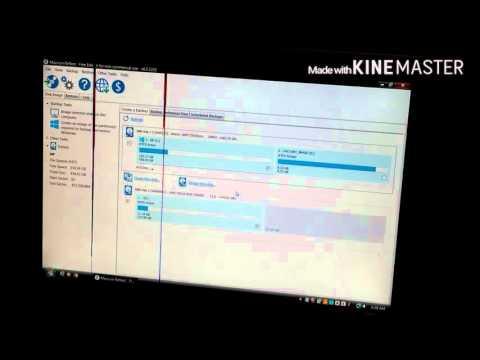 Clone/migrate hard drive (done in Windows Vista)