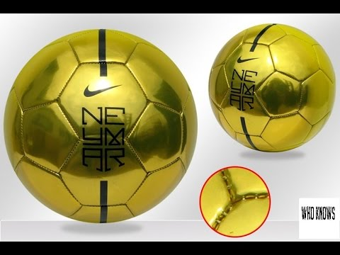 how to paint soccer ball gold with nike logo