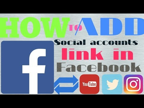 How to add social |Accounts| links on Facebook profile,add youtube insta and twitter etc easily