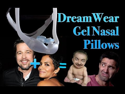 Dreamwear With Gel Nasal Pillows CPAP Mask Fitting and Review. Brad Pitt Halle Berry Ugly Baby