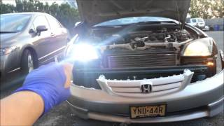 6000k 35w Hid Lights On 2002 Honda Civic