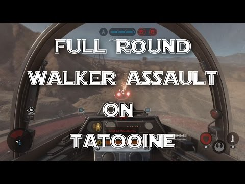 Full Round of Walker Assault on Tatooine - Star Wars Battlefront (PS4 Gameplay)
