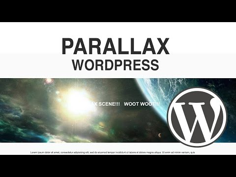 Wordpress Parallax Plugin - How to Make a Parallax Section on your Wordpress Website