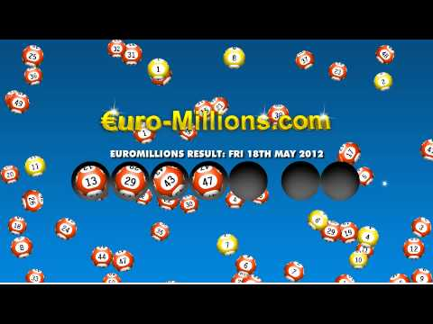 Euromillions Results for Friday 18th May 2012