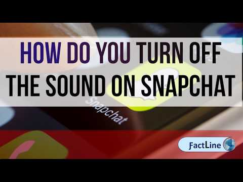 How Do You Turn Off The Sound On Snapchat