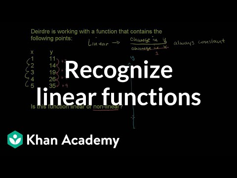 Recognizing linear functions | Linear equations and functions | 8th grade | Khan Academy