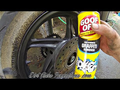 STOLEN MOTORCYCLE REPAIR - REMOVING SPRAY PAINT WITH