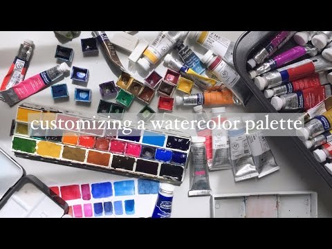 customizing a watercolor palette
