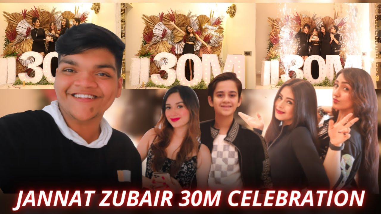Jannat Zubair's 30M Celebration with Rits Badiani, Ashnoor Kaur, Ayaan Zubair I Smileplease