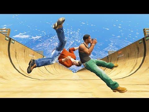 GTA 5 CRAZY Jumps/Falls Compilation #5 (GTA V Fails Funny Moments)