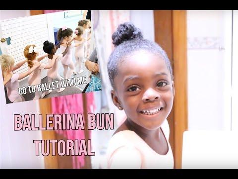 How To Do A Ballerina Bun On Natural Hair + Go To Ballet With Me