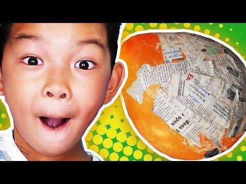 Kids How-to Paper Mache Egg! DIY Kids Crafts + Simple Paper Crafts for Kids  ~ pocket.watch jr