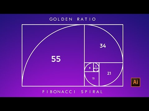 How to Create Golden ratio ( Fibonacci spiral ) in illustrator. Design anything to Next level!