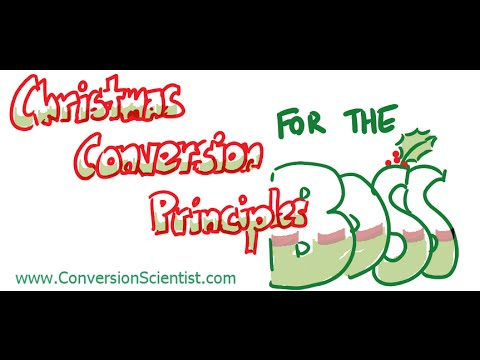 Christmas Conversion Principles for the Boss from Conversion Sciences