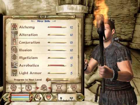 The Elder Scrolls IV: Oblivion Explorer Leveling Tip