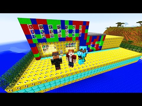 Minecraft OMEGA LUCKY BLOCK RACE with The Pack