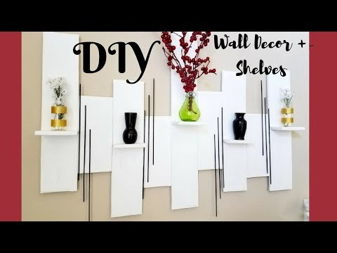 Quick And Easy Diy Wall Art +Mini Shelves Room Decor $0!!!
