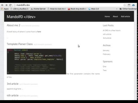 Codeigniter based article manager demo1