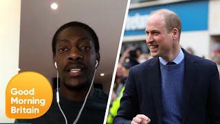 Footballer Marvin Sordell Talks Mental Health with Prince William | Good Morning Britain