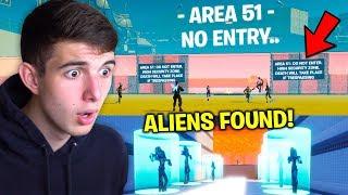 I Snuck ALIENS out of AREA 51 Fortnite Server..