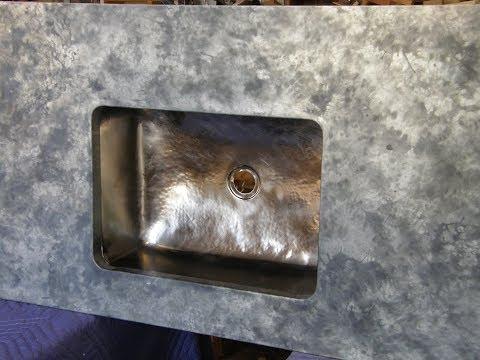 Zinc Counter Top Job With Undermount Sinks - PART 3 - Metal Work