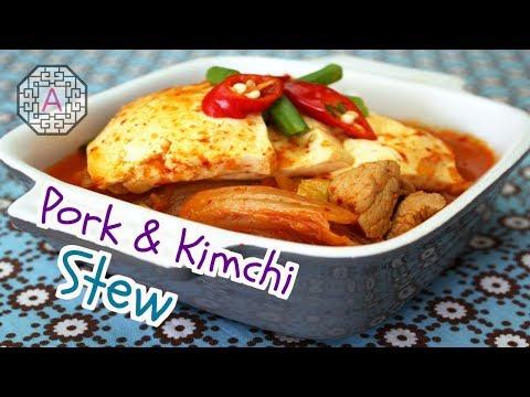 【Korean Food】 Pork Kimchi Stew (돼지고기 김치찌개)
