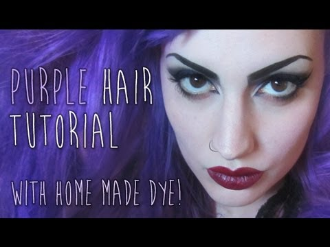 How to make your own PURPLE HAIR dye